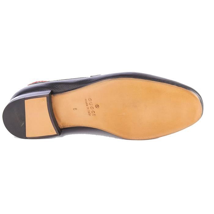 604109c3a01 Gucci Gucci Men s Leather L Aveugle Par Amour Loafers Black Shoes Size US 7
