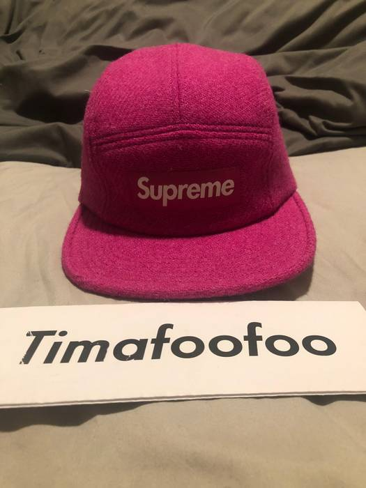 3eb9a1f1d81 Supreme Supreme Featherweight Wool Camp Cap Pink FW17 Size one size ...