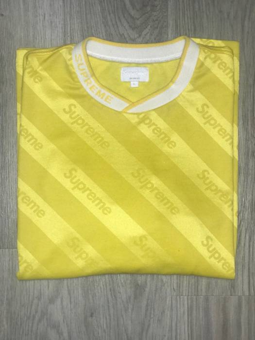 c8aa615220965d Supreme Supreme Diagonal Soccer Jersey Size l - Jerseys for Sale ...