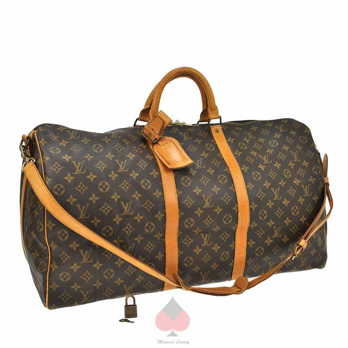 a7f49da7d519 Louis Vuitton Keepall 60 Bandouliere L.V. Monogram Canvas Shoulder Strap  Overnight Weekend Travel Luggage Duffle Bag