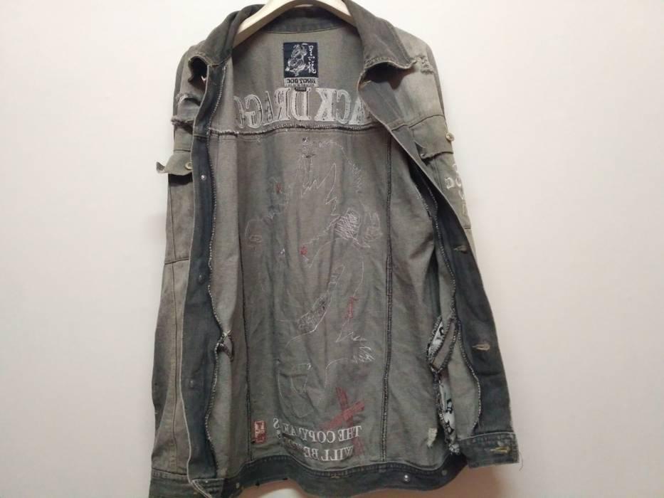 e52bb888463 Dogtown Black Dragon Distressed Denim Jacket Size xl - Denim Jackets ...