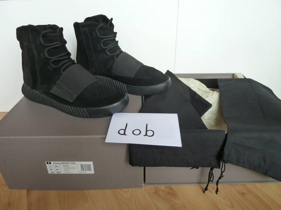 af776c45aeff1 Adidas Kanye West Yeezy Boost 750 Triple Black Size 11 - Hi-Top ...