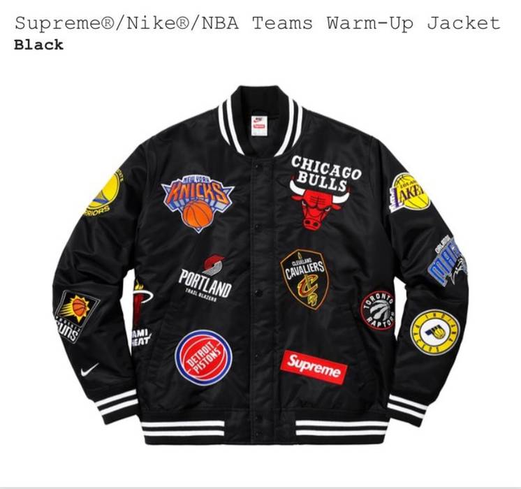 Supreme Supreme® Nike® NBA Teams Warm-Up Jacket Size xl - Light ... 45e06e673
