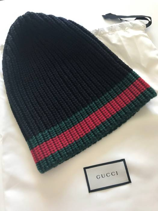 Gucci Wool Hat With Web Size one size - Hats for Sale - Grailed e62d4bd9b315