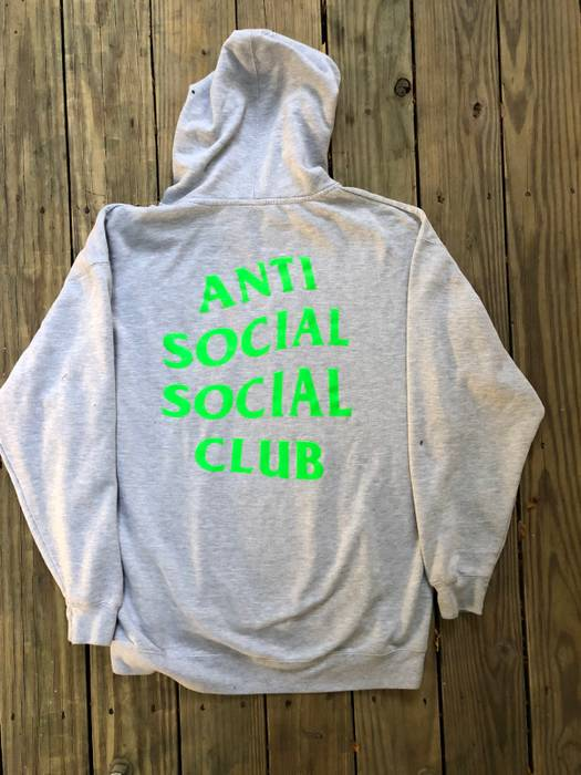 9c4776ab3 Antisocial Social Club Neon Green Antisocial Social Club Hoodie Size ...