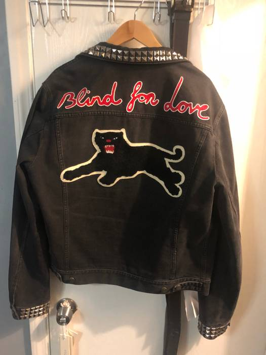 b1c840f42bfc Gucci Gucci Blind For Love Size l - Denim Jackets for Sale - Grailed