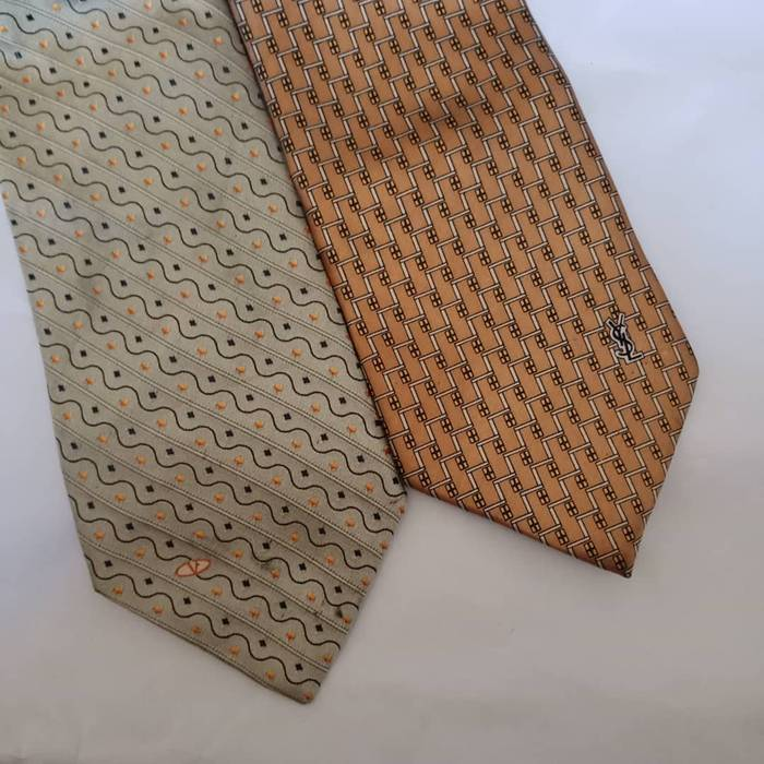 Valentino COMBO 2 PIECES YVES SAINT LAURENT AND VALENTINO NECKTIES Size ONE  SIZE 12a29556cc026
