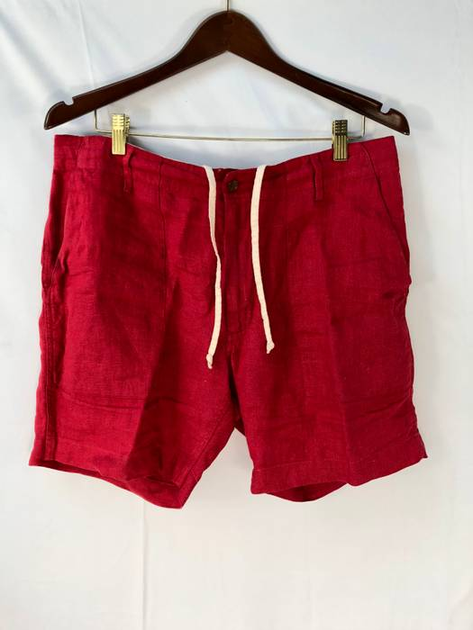 Engineered Garments Ss13 Red Cotton Linen Fatigue Shorts
