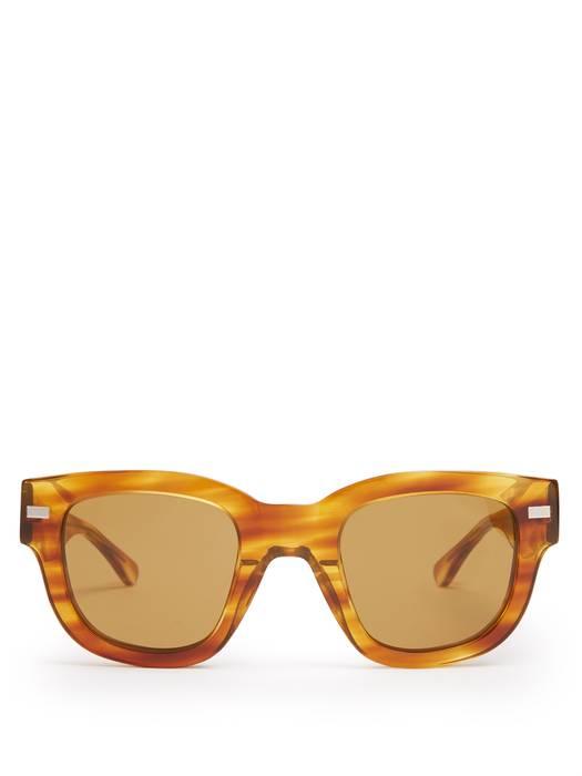 cd747fab3f Acne Studios Square D-Frame Tortoiseshell Acetate Sunglasses Size ...