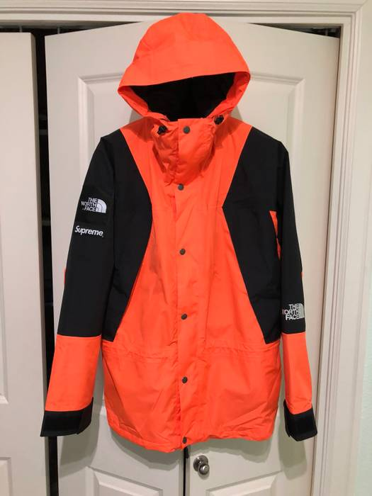 Supreme X Tnf Mountain Light Jacket Orange Parka Size L. The north face  nuptse ... 970a454ee