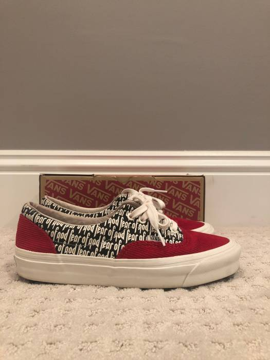 b2bb16bfc3f Vans Red Fear Of God Vans Size 9 - Low-Top Sneakers for Sale - Grailed
