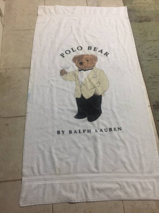 Polo Ralph Lauren Bear Beach Towel Size One 1