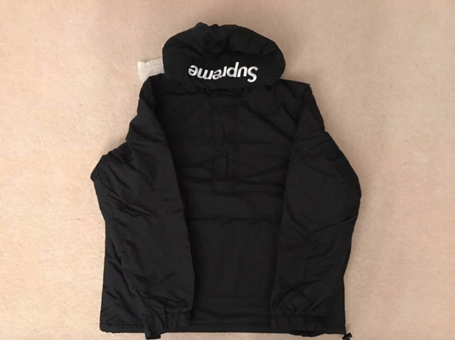 Supreme Supreme Hooded Logo Half Zip Pullover Jacket Size Large ... 067fb1462
