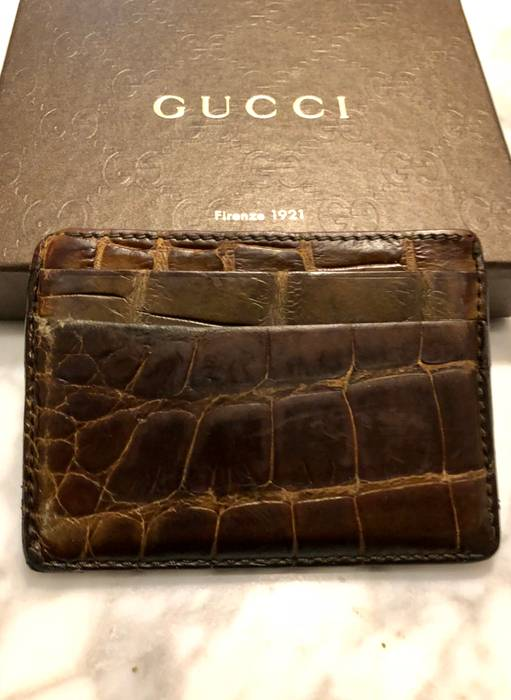 b5ef2387307 Gucci  USED  Crocodile Card Case Size one size - Wallets for Sale ...