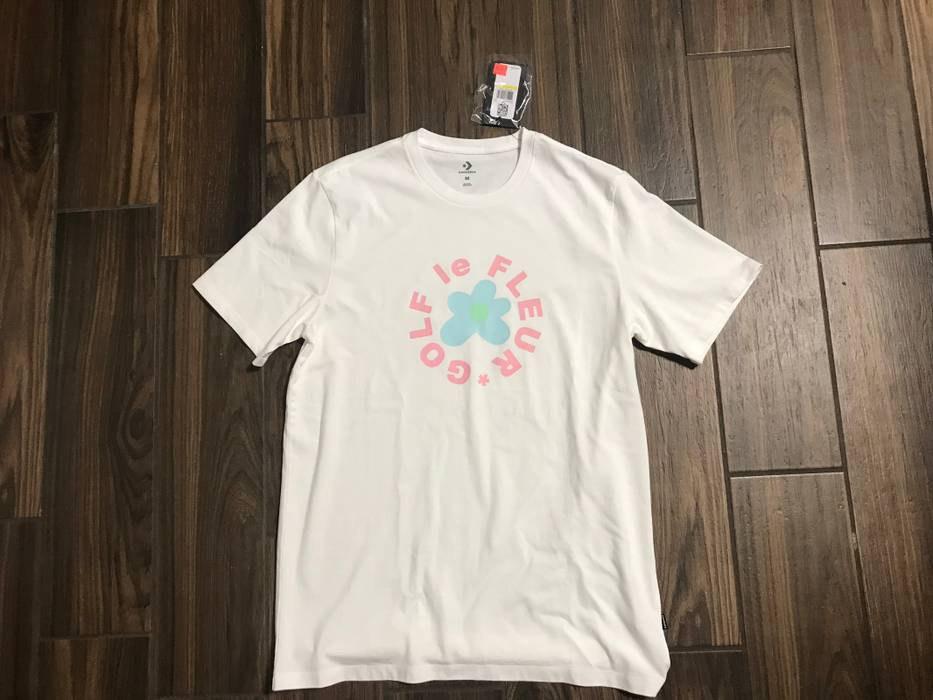 66bf315207f3da Converse Golf Le Fleur Shirt White Size m - Short Sleeve T-Shirts ...