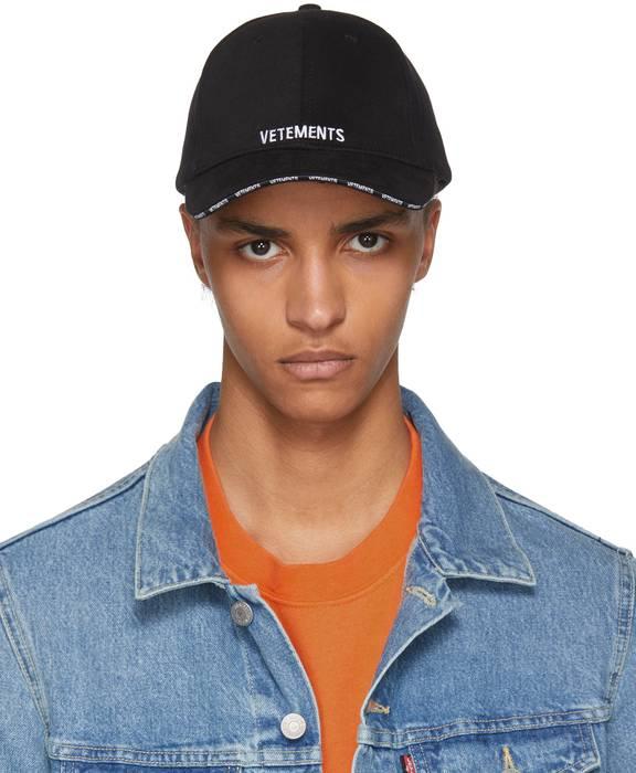 Vetements Vetements Black Logo Baseball Cap Size one size - Hats for ... 10a3d915f9b