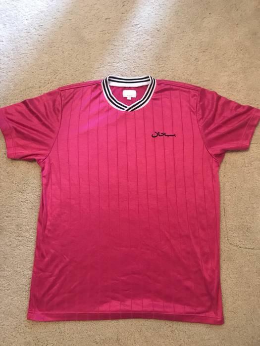 Supreme Supreme Arabic Logo Soccer Jersey Size l - Jerseys for Sale ... 4cd51e775