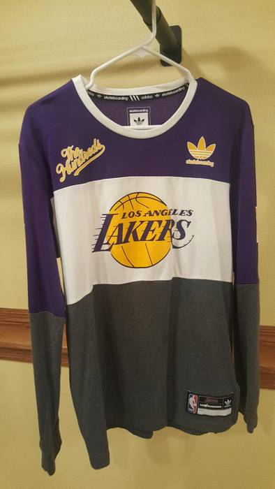 Adidas NBA Adidas x The Hundreds Lakers Long Sleeve T-Shirt Size l ... d644b66be