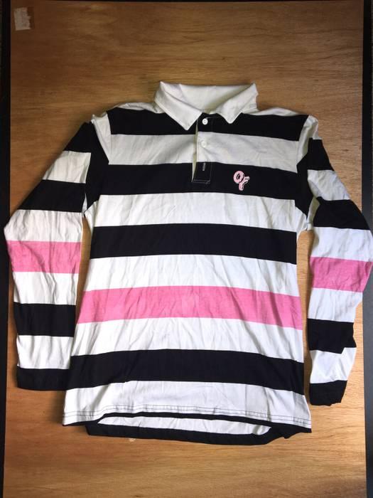 1ebfb7199b422f Odd Future Odd Future Stripped Polo Size l - Long Sleeve T-Shirts ...