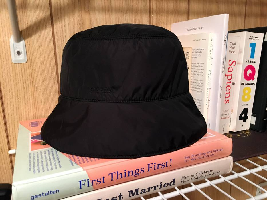 12fc663fc40c4 Prada Nylon bucket hat Size one size - Hats for Sale - Grailed