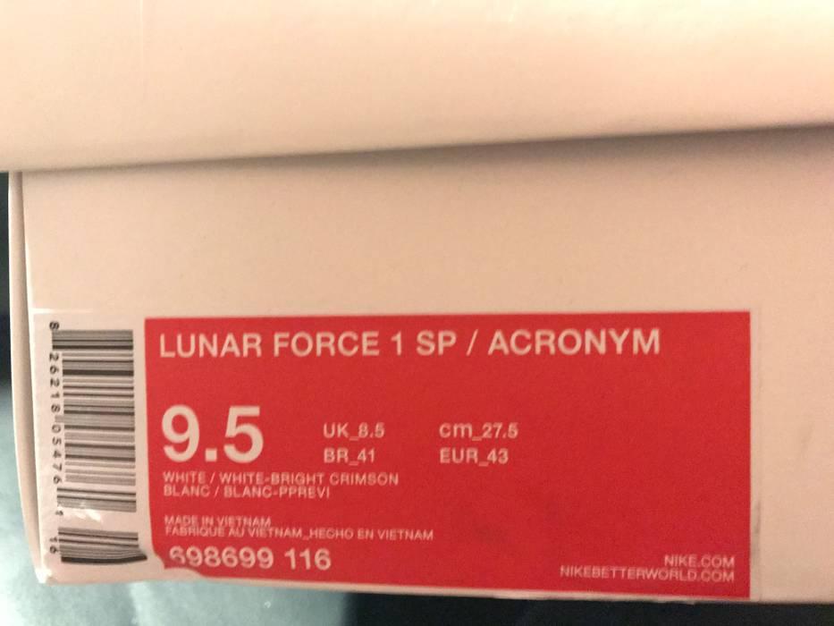 big sale 33f2c ee3fb Nike ACRONYM x NikeLab Lunar Force 1 SP US9.5 UK9 CrimsonWhite