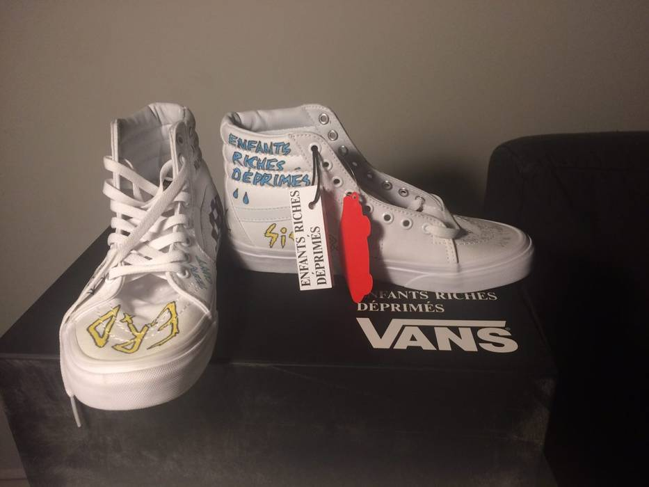 48b690033fe Vans Hand painted ERD Vans Size 7.5 - Hi-Top Sneakers for Sale - Grailed
