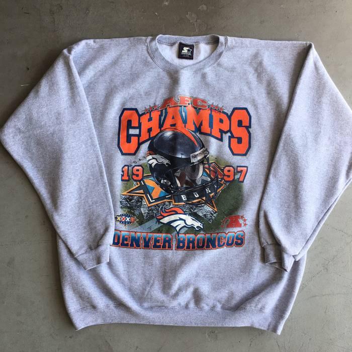 Starter Vintage 1997 Denver Broncos AFC Champs Sweater Size xl ... 1bd8c6189