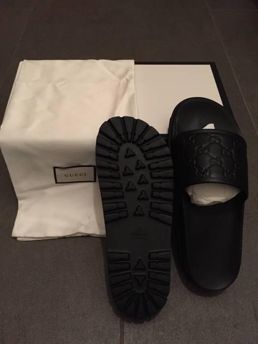 4c754bafcfb3 Gucci Black Pursuit Trek Slide Sandals Size 8 - Sandals for Sale ...