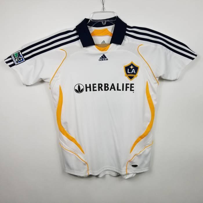 b372c4c6e Adidas. VTG Adidas LA Galaxy David Beckham Mens Soccer Jersey Sz L Large  White SS 23 MLS