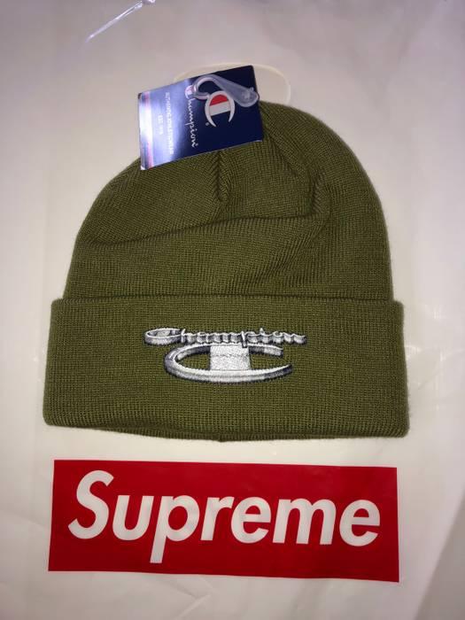 Supreme Supreme X Champion Beanie (Olive Green) Size one size - Hats ... 2f1c71379dc