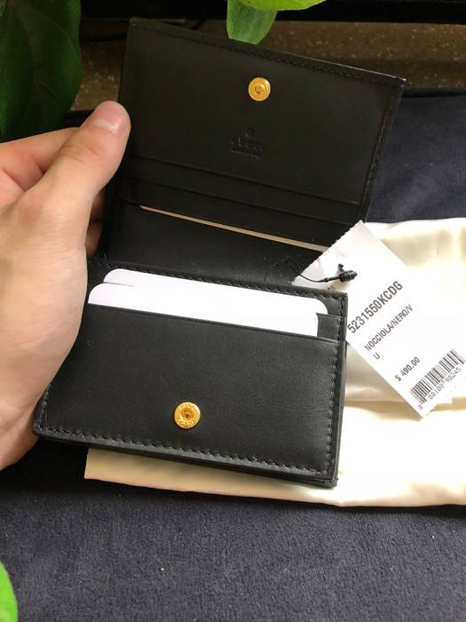 59f935c2fc8927 Gucci BROWN GUCCI OPHIDIA CARD CASE WALLET WITH LEATHER TRIM Size ONE SIZE  - 2