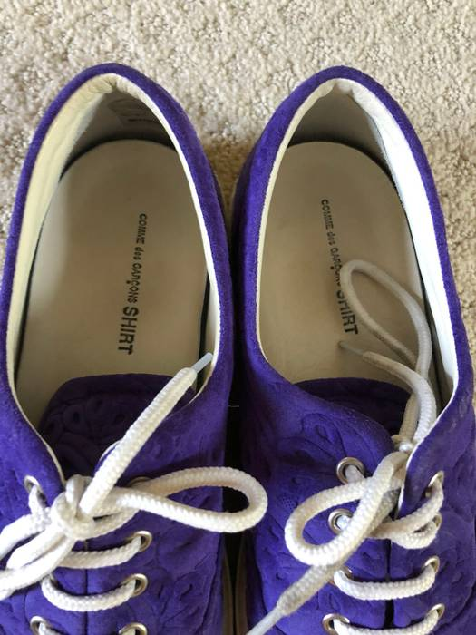 05597ee72a6d45 Comme des Garcons Purple Paisley Suede Canvas Sneaker Size US 9   EU 42 - 2