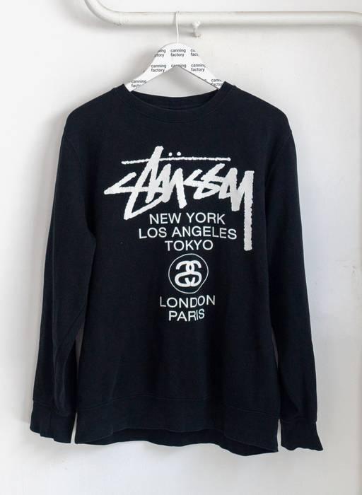 f4c3d2d0329 Stussy STUSSY WORLD TOUR SWEATSHIRT BLACK Size l - Sweatshirts ...