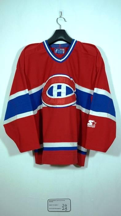 5345dc7d8 ... best price starter vintage 90s montreal canadiens sewn hockey ice nhl  starter jersey size medium m
