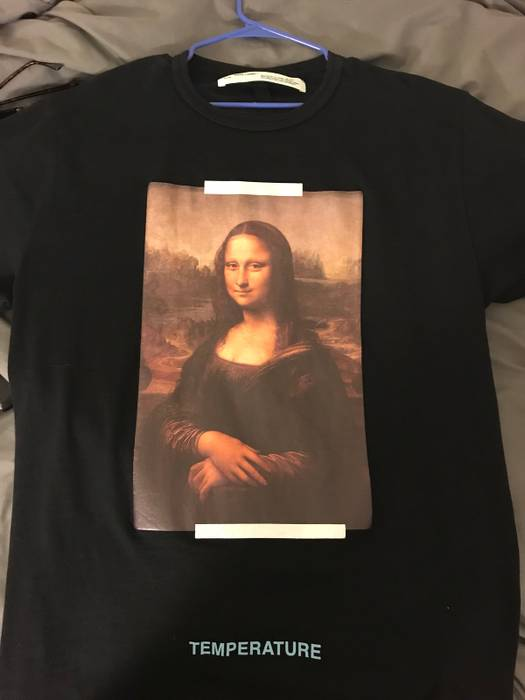 521040d61ce ... Short Sleeve T-shirts. Slide 1 of 8. Off-White Off White Mona Lisa Tee  Size US L   EU 52-54