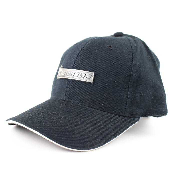 528f5406c99cd Vintage. NEW Michelin Tires Black Metal Accent Strapback Baseball Hat. Size   ONE SIZE