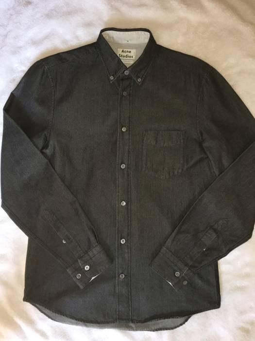 ea4f60cc5de6 Acne Studios Isherwood Dark Grey COTTON Flannel shirt Size US M   EU 48-50