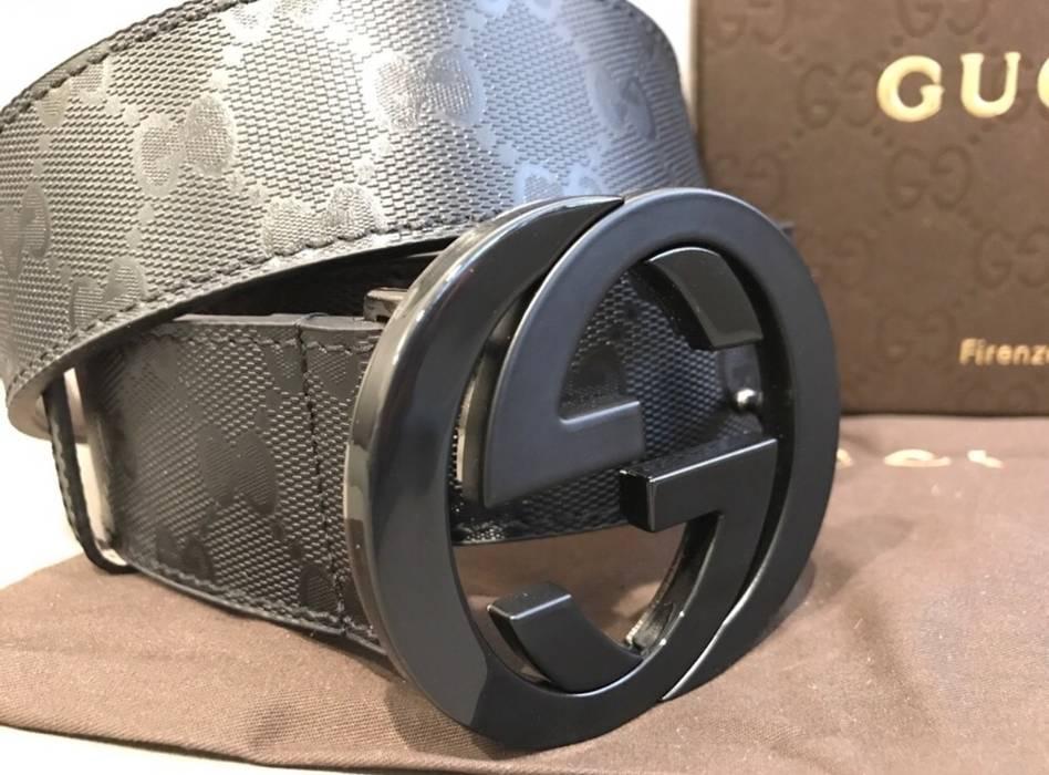 4597b873316 Gucci Black Imprime Belt Size 30 Belts Grailed