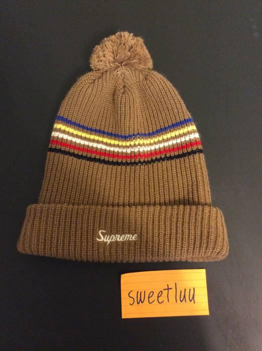 177238ad9cfc7 Supreme Multi-Stripe Beanie Size one size - Hats for Sale - Grailed