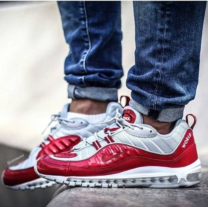 Supreme Nike Air Max 98 x Supreme RED Size 10.5 - Low-Top Sneakers ... 84db5e6c6021