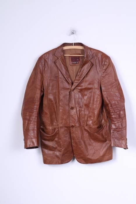 Zara Zara Mens Xl Jacket Brown Leather 4412 Size Xl Leather