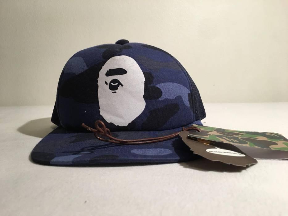 Bape A Bathing Ape Blue Camo Hat Size one size - Hats for Sale - Grailed 993597e3b