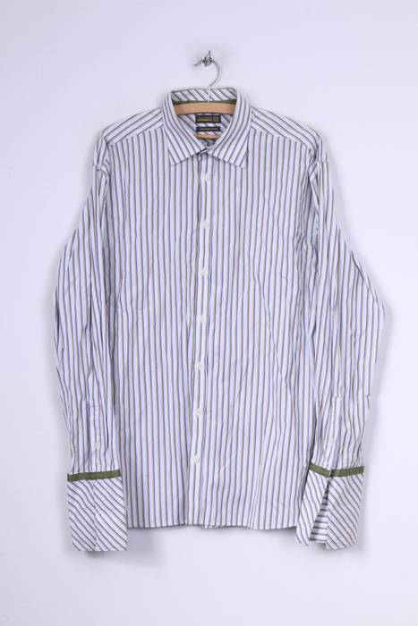 50c8d8dbaa9b Ted Baker Ted Baker Endurance Mens 17.5 44.5 XL Casual Shirt Striped ...