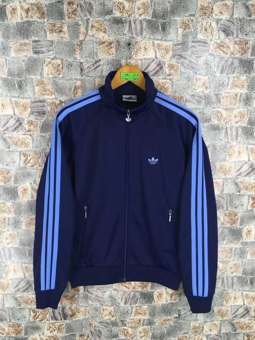 08034302782f Adidas ADIDAS Track Top Jacket Medium Vintage 90 s Adidas Trefoil Three  Stripes Sportswear Windbreaker Adidas Blue