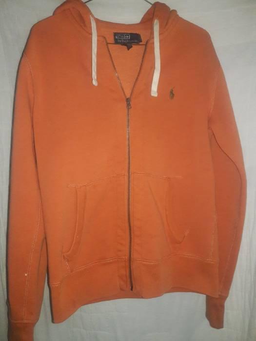 b438f0f72 ... official store polo ralph lauren polo ralph lauren orange zip up hoodie  s small size us