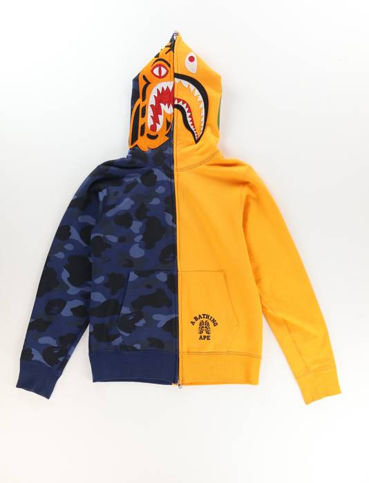 1d1b993b3584 Bape Tiger Sharkhead Split Full-Zip Hoodie Size m - Sweatshirts ...