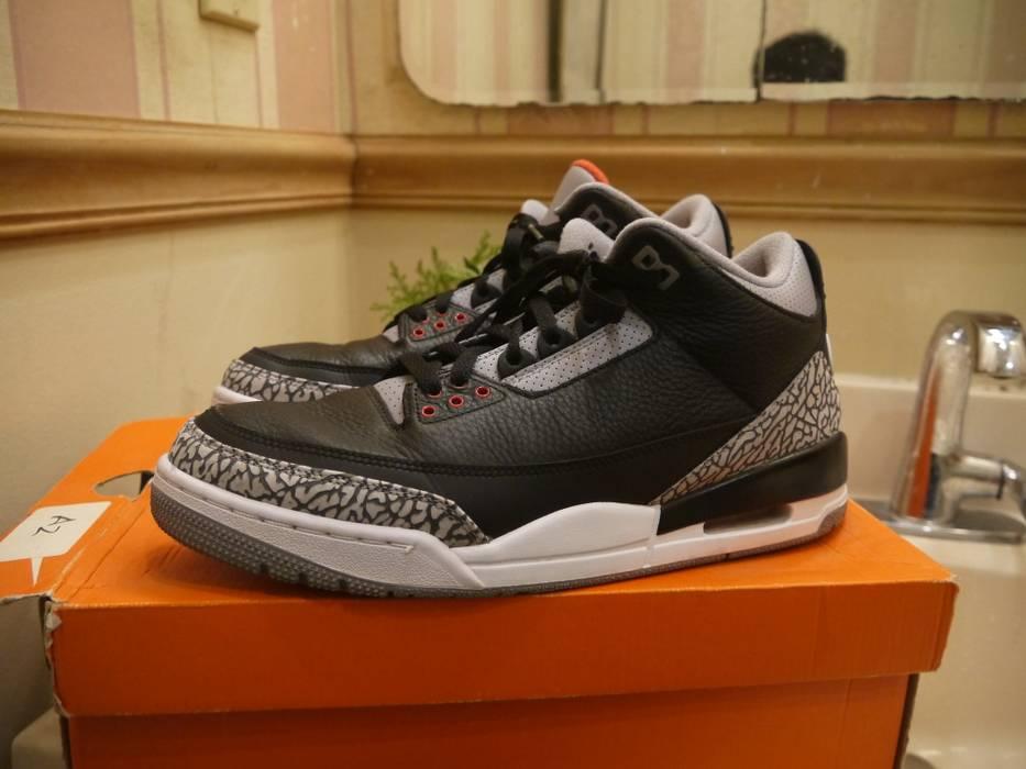 27061a5af293dd Jordan Brand Air Jordan 3 Retro Black Cement (2018) - Nike Air Logo ...