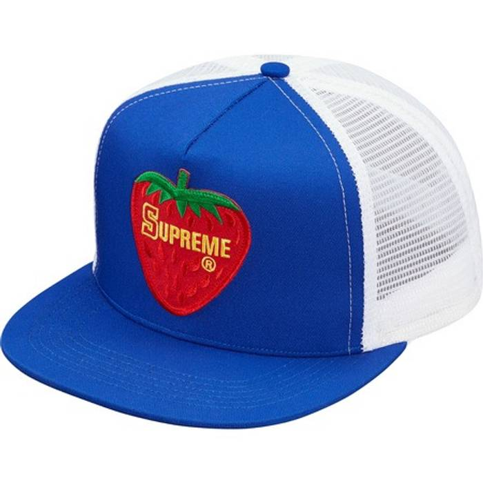 Supreme Strawberry Mesh Back 5 Panel Blue Royal Size one size - Hats ... e5c31c8aa