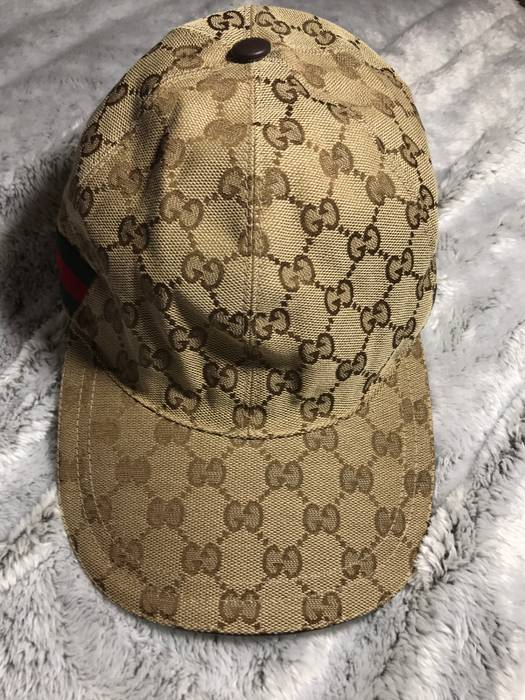 Gucci Men s GG Canvas Baseball Hat in Brown Size one size - Hats for ... 072d16a0783