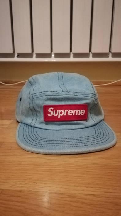 Supreme Supreme washed Chino twill camp cap denim Size one size ... 4b67e76e175